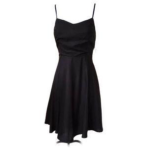 Black Fit-n-Flare Spaghetti Strap Sun Dress